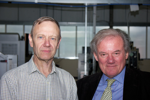 Name game: Peter Boxall (left) and James Edmiston (right) are the titular two behind the company